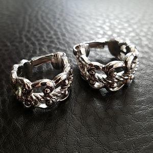 VTG Avon clip on hoop earrings